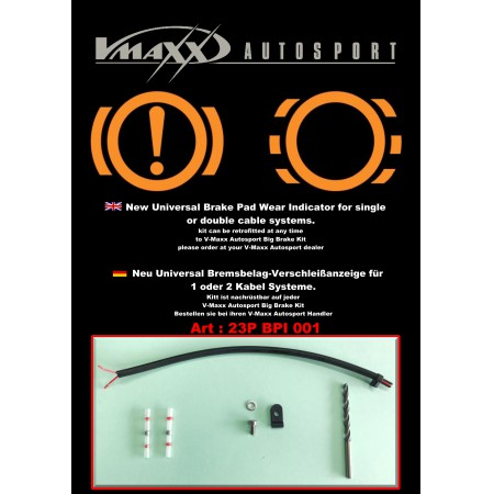 23P BPI 001 / V-MAXX Brake Pad Wear indicator kit